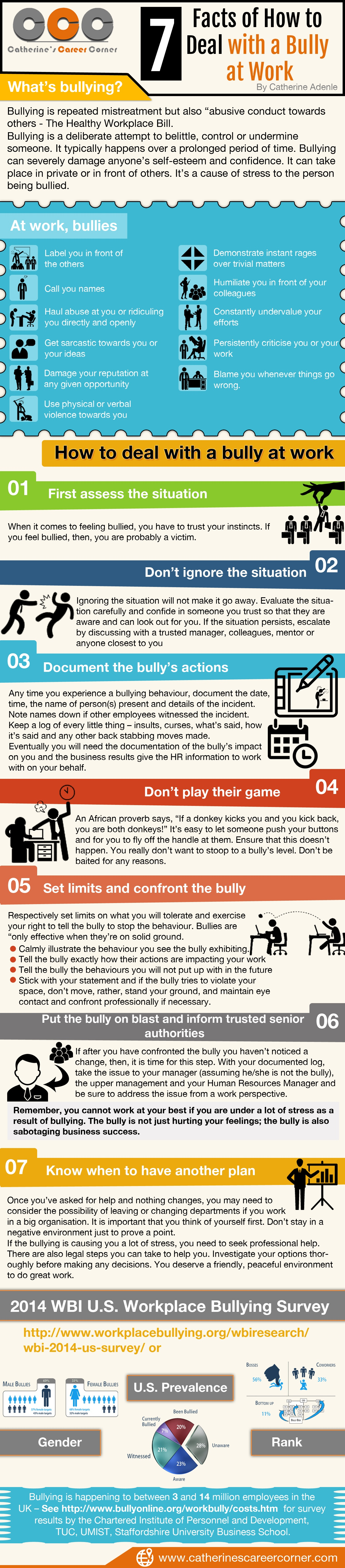 How to deal with a bully at work 7 tips catherines career how to deal with a bully at work 7 tips aljukfo Choice Image